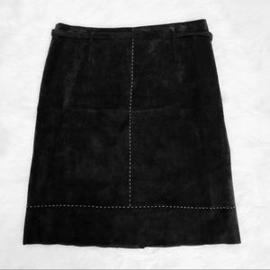 Madison Studio Brown Suede Skirt Size 12
